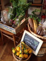 地元の有機野菜の販売