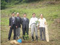 柚子の苗木植樹記念